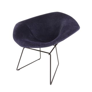 Mid-Century Harry Bertoia for Knoll Blue Diamond Lounge Chair For Sale