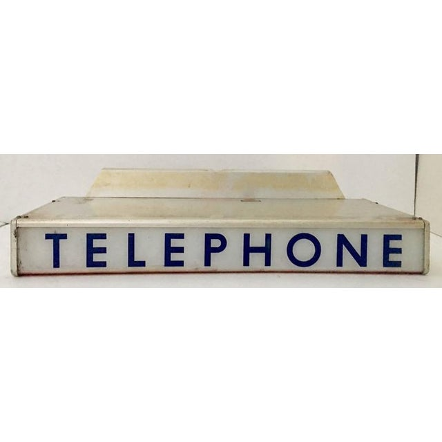 1930s Western Electrical Co. Telephone Booth Light Box Sign - Image 3 of 9