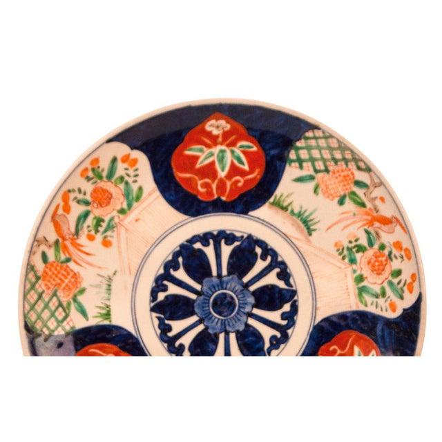 Imari Porcelain 1890s Japanese Imari Porcelain Multi Petal Flower Charger Plate For Sale - Image 4 of 6