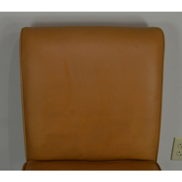 Leather Fairfield Set 4 Tan Leather Bar Stools For Sale - Image 7 of 12