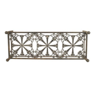 Outdoor Continental Style Iron Base Coffee Table For Sale