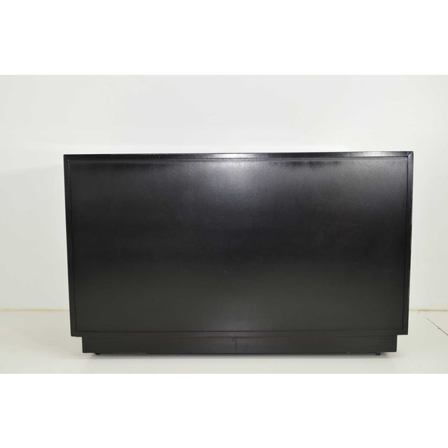Metal Robsjohn-Gibbings for Widdicomb Chest of Drawers in Black Lacquer For Sale - Image 7 of 13
