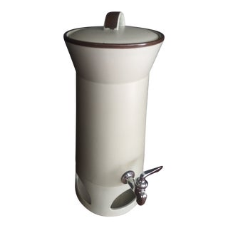 Mikasa StoneKraft Coffee Tea Urn With Heating Stand and Serving Spigot For Sale