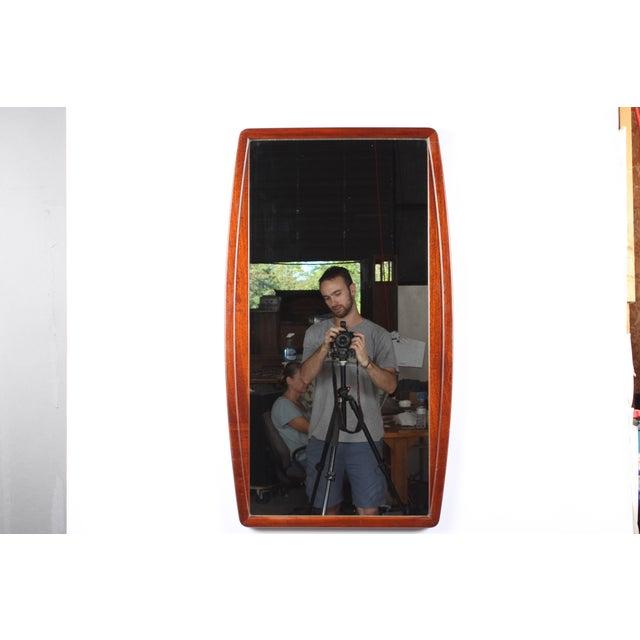 1960s Mid-Century Mahogany Mirror - Image 2 of 3