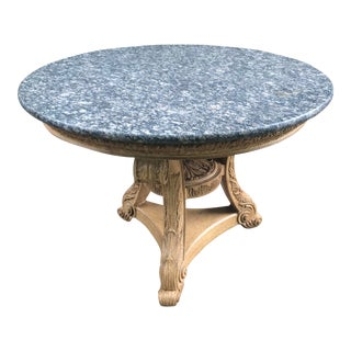 Marble Topped Large Center Table For Sale