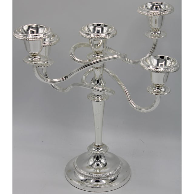 Late 19th Century English Silver Plated Candelabras - a Pair For Sale - Image 6 of 10