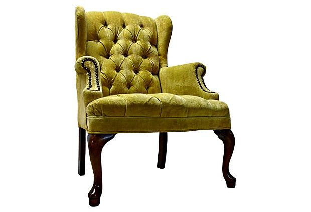 Petite Tufted Wingback Chair   Image 5 Of 7