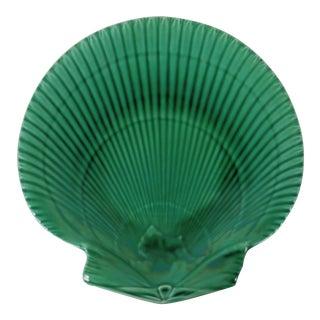 Wedgwood Green Majolica Shell Plate For Sale