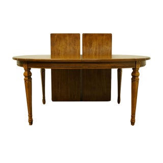 "20th Century Traditional Bernhardt Furniture Italian Provincial Style 100"" Dining Table For Sale"