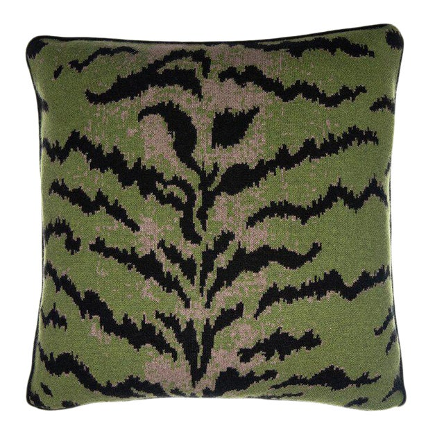 Calabria Cashmere Pillow, Green For Sale