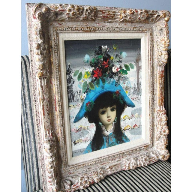 "Jean Calogero Oil Painting ""Arlequine"" (signed) - Image 5 of 8"