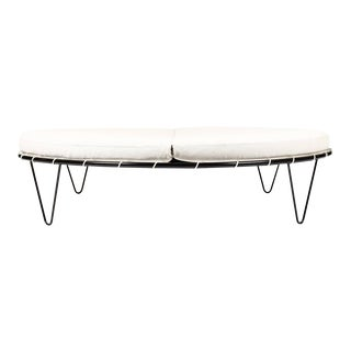 Mid-Century Vintage Large Round Patio Chaise Lounge — Pacific Iron Products — Sun Circle For Sale