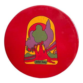 Peter Max Enamel Trivet Tray For Sale