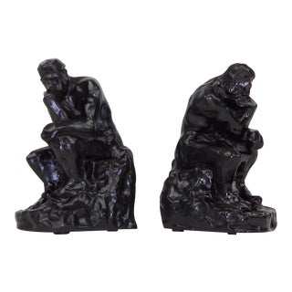 Auguste Rodin Brutalist Bookends - A Pair
