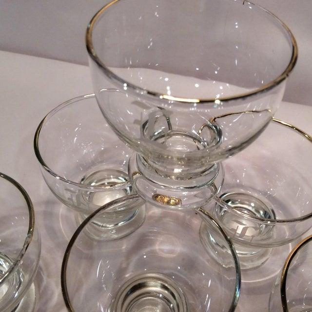 """Vintage """"L """" Monogrammed Crystal Aperitif Glasses - Set of 6 - Image 8 of 11"""