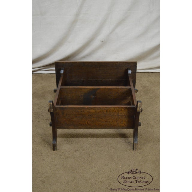 """Roycroft """"The Roycrofters"""" Arts & Crafts Mission Oak Little Journeys Book Stand For Sale - Image 10 of 13"""