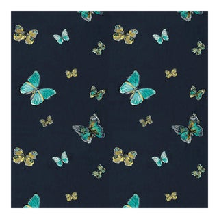 "Casamance ""Virevolte"" Embroidered Butterfly Fabric - 1yd"