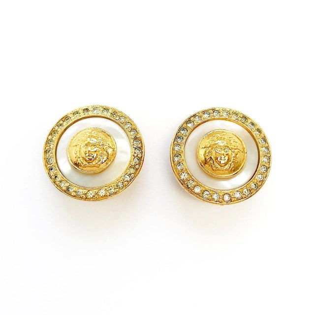 1a7dd67986f2 1990s Medusa Earrings by Gianni Versace For Sale - Image 5 of 5