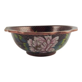 Vintage Chinese Cloisonne Bowl For Sale