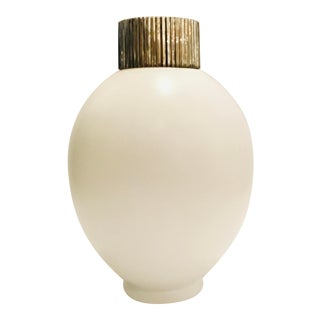 Global Views Modern Small White Blanc De Chine Jar For Sale