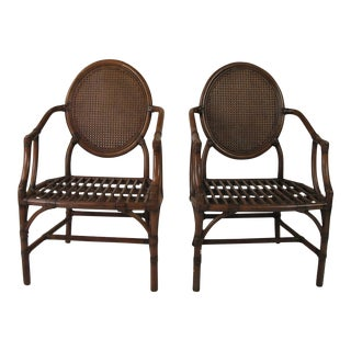 McGuire Louis XVI Chairs - A Pair