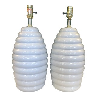 Postmodern Beehive Lamps, a Pair For Sale
