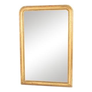 Antique Louis Philippe Style Gilt Wood Mirror For Sale