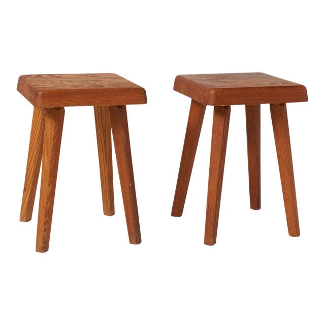 Stools by Pierre Chapo Model S01A - a pair For Sale