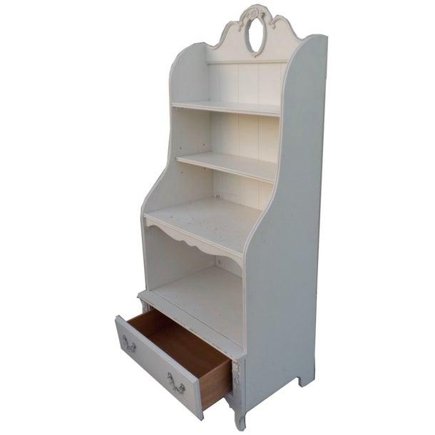 White Shabby Chic Wooden Bookshelf - Image 2 of 3