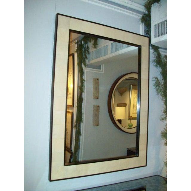 Modern Custom Rectangular Shagreen Mirror For Sale - Image 3 of 6