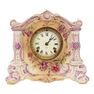 Early 20th Century Royal Bonn Ansonia Mantle Clock For Sale