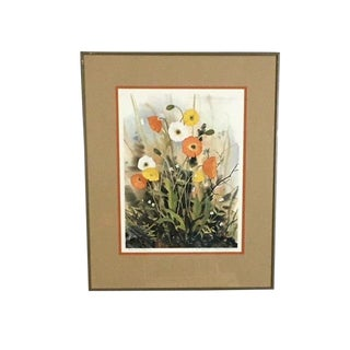 "1970s Realism Lithograph, ""Alaska Poppies"" by Nancy Taylor Stonington"
