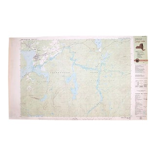 Vintage Tupper Lake, Ny, Topographic Map For Sale