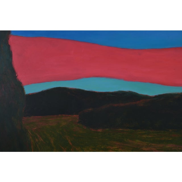 """2010s """"Sunset Over Tilled Fields"""" Large Painting by Stephen Remick For Sale - Image 5 of 11"""