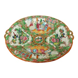 Rose Medallion Lobed Sweetmeat Dish For Sale