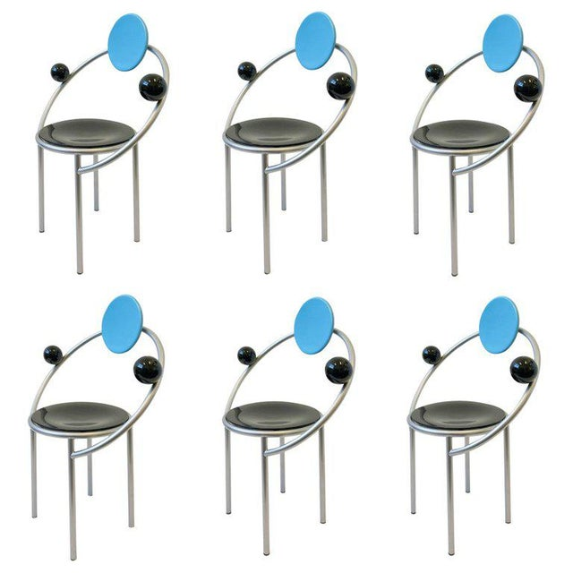 Set of Six Italian Memphis Dining Chairs by Michele De Lucchi For Sale - Image 11 of 11