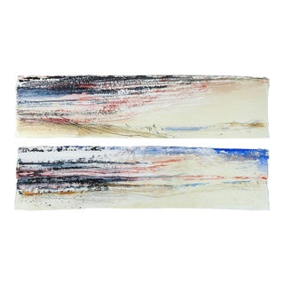 George Turner Abstract Diptych For Sale