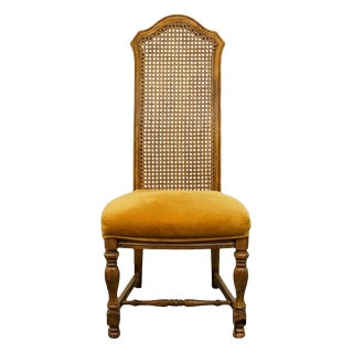 20th Century Italian Hibriten Furniture Cane Back Dining Side Chair For Sale