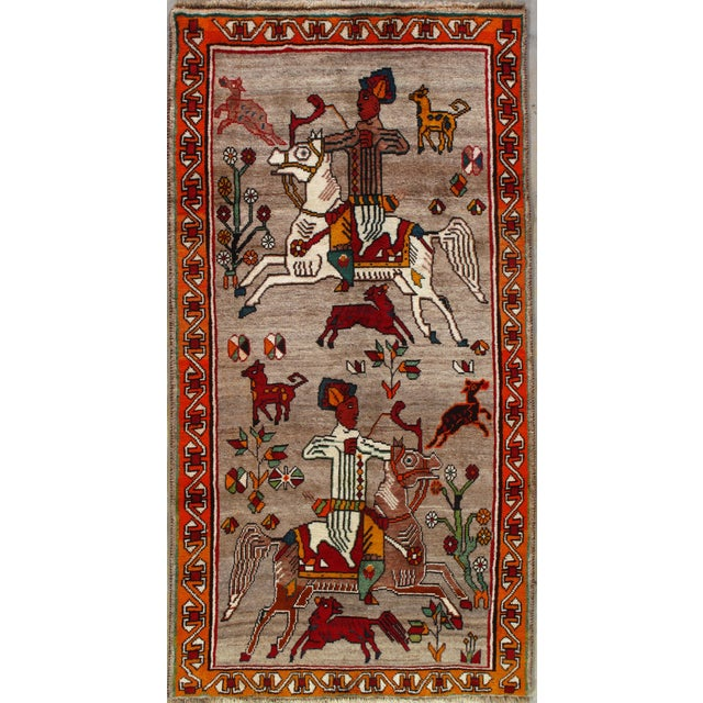 Vintage Qashqai Rug For Sale In Boston - Image 6 of 6