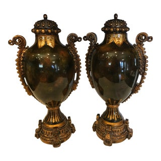1990s Vintage Urns - a Pair For Sale