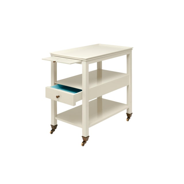 Contemporary Miles Redd Collection Practical Nightstand in Ivory For Sale - Image 3 of 6