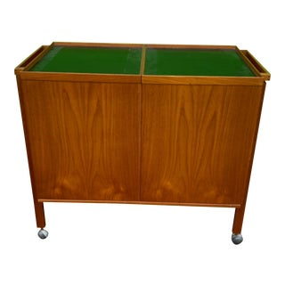1960s Niels Glasdam Jensen Danish Mid-Century Modern Teak Bar Cart For Sale