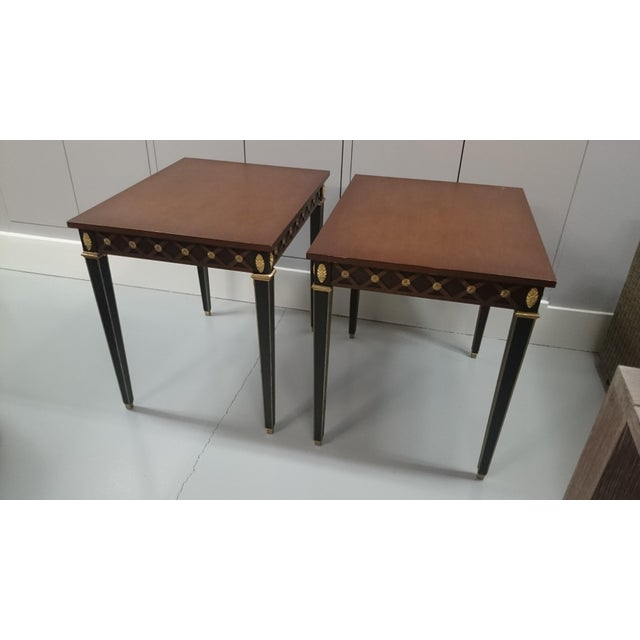 Wood Trouvailles Boughton Tables - A Pair For Sale - Image 7 of 7