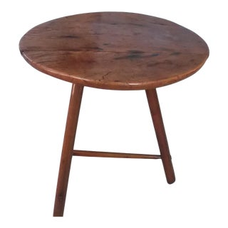 19th Century American Classical Walnut Cricket End Table For Sale