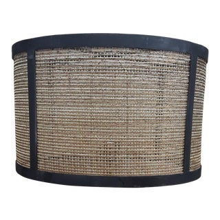 Gold Metal Fabric Handmade Barrel Lamp Shades For Sale