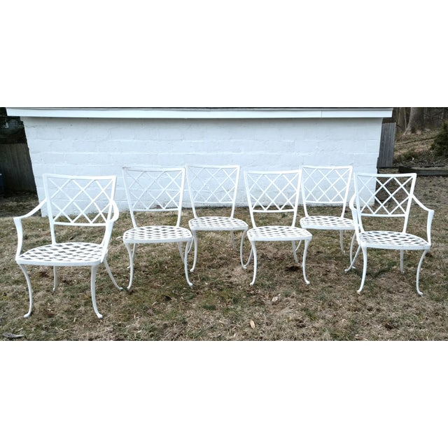 1960s Early Brown Jordan Patio Dinning Chairs - Set of 6 For Sale - Image 5 of 5