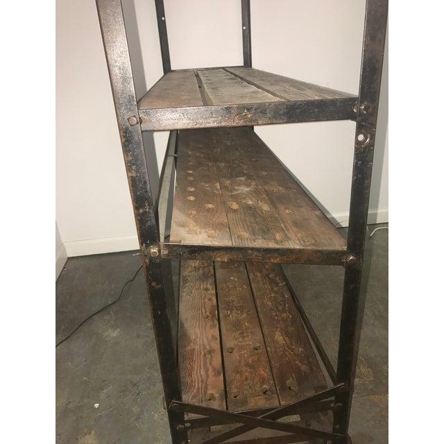 Metal Antique Industrial Cobblers Shoe Rack Shelving Unit For Sale - Image 7 of 11