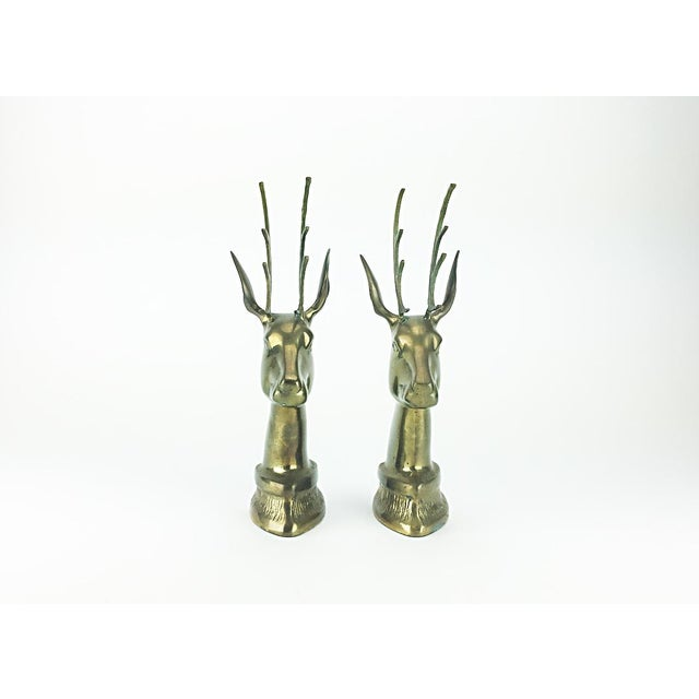 Vintage Elk Brass Bookends - A Pair - Image 4 of 6