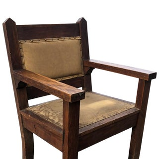 1920s Vintage Arts & Crafts Oak Bishop Throne Chairs- A Pair Preview