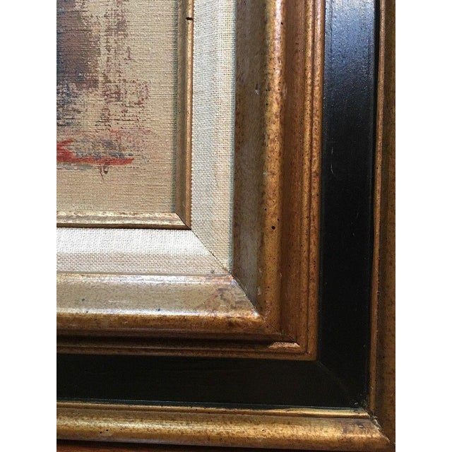 1970s 1975 Vintage Mid Century Abstract Expressionist Oil Painting, Signed Jesse Jacobs For Sale - Image 5 of 11